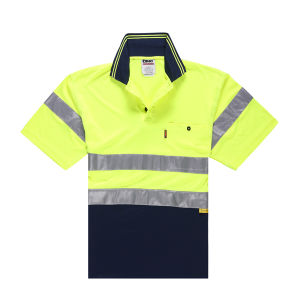 Bright Color Quality Dry Fit Safety Polo Shirt pictures & photos