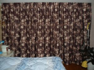 Floral Pencil Pleat Printed Curtain (ML-005)