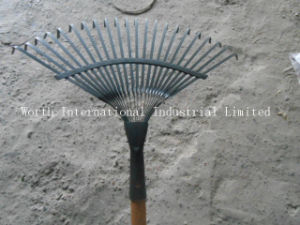 Steel Leaf Rake with Wood Handle pictures & photos