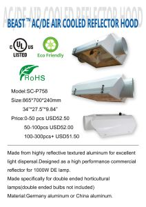 Good Quality High Technology Grow Light Reflector& Hoods pictures & photos