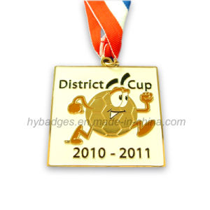 Football Promotion Medal, Shinning Gold Stoving Varnish Medal (GZHY-MEDAL-012) pictures & photos