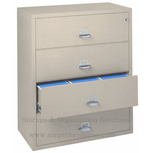 4 Drawer Black Lateral File Storage Cabinet for Office pictures & photos