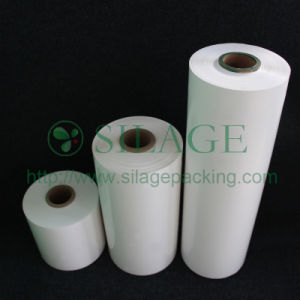 White Color, 500mm*25mic*1800m, 100%LLDPE, High Stretching Plastic Film for Packing Grass pictures & photos