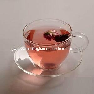 High Borosilicate Glass Cup&Saucer (NR-CS01) pictures & photos