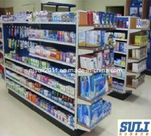 Popular Shop Supermarket Display Shelf with Hanging Back pictures & photos