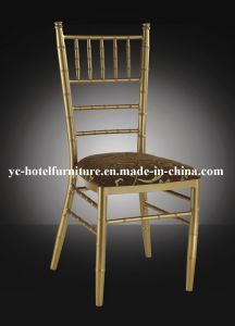 Golden Metal Frame Fixable Cushion Chiavari Chair (YC-A18) pictures & photos