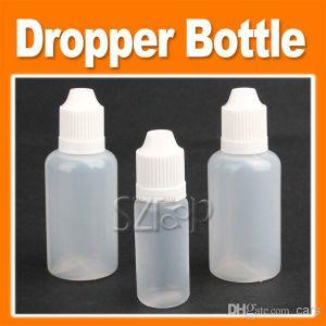 Pet E-Liquid Oil Bottle Dropper 10ml/30ml E-Juice Eliquid Plastic Dropper Bottle E Liquid