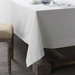 White 100% Cotton Hotel Tablecloth Napkin/Tablecloth (DPFR80125) pictures & photos