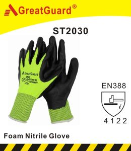 Foam Nitrile Glove pictures & photos