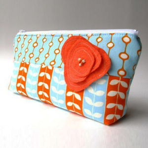 Lady Flowers Hand Cosmetic Bag