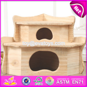 New Products Funny Pet Activity Room Nature Wooden Hamster Cage W06f030 pictures & photos