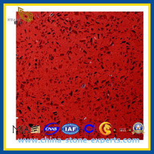 Prefab Specifications Interior Wall Panels Red Artificial Quartz Stone (YQZ-QS1009) pictures & photos