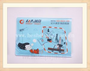 Plastic Name Card Holder of Full Color Printing pictures & photos
