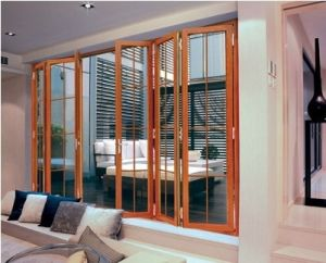 Heavy Duty Aluminium Folding Door (pH-8818) pictures & photos