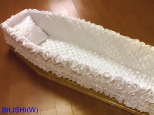 Satin Fabric Coffin Padding and Coffin Lining