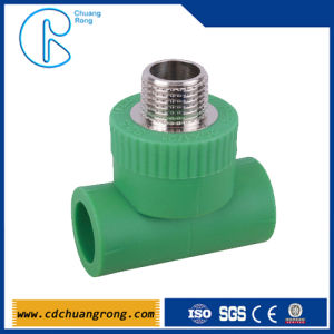 Pn16 Sanitary Pipe Fittings PPR Male Threaded Tee pictures & photos