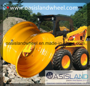 Skid Steer Steel Wheel (16.5X8.25) for Tubeless Tyre pictures & photos