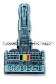 Belgium Brugge Building Embossed Metal Fridge Magnet (FMJ113) pictures & photos
