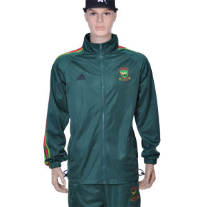 Customized Embroidery Students′ Polyester Zipper up Jacket and Pant pictures & photos