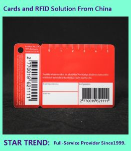 Warehouse Card Made Plastic with Barcode Plus One Key Card pictures & photos