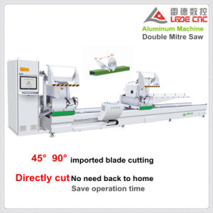 Double Mitre Cutting Saw Machine 45 and 90 Degree Aluminum Profile pictures & photos
