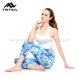 Ladies Capri Legging Women Yoga Pants Gym Wear