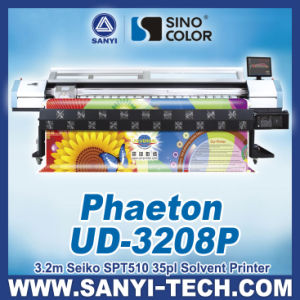Solvent Printer Phaeton Ud-3208p with Spt510/35pl Heads pictures & photos
