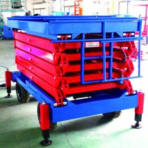 Hydraulic Movable Scissor Lift (Max Height 10m) pictures & photos