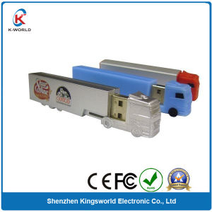 Plastic Truck USB Flash Memory with Free Logo Printing
