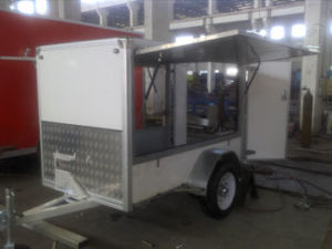 Single Axle Enclosed Cargo Trailer With Side Big Window (GW-BLV7) pictures & photos
