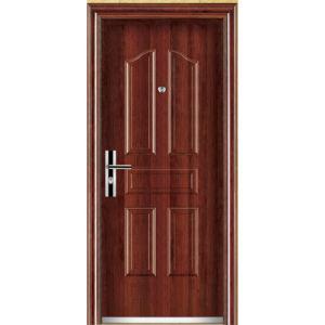 Security Steel Single Door (YF-S80) pictures & photos