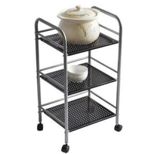 Metal Tiers Mobile Store Fixturer, Display Rack