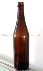 640ml Amber Color Glass Beer Bottle pictures & photos