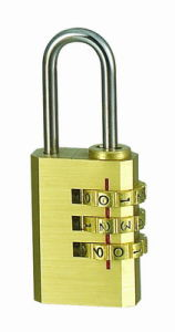 Brass Combination Padlock W/3 Dials Code Lock (110213) pictures & photos