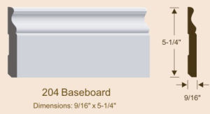 MDF Skirting Board Primed MDF Baseboard pictures & photos