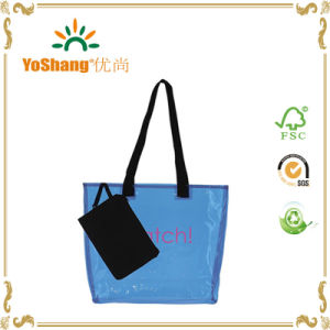 2016 Promotion Fashion Transparent PVC Beach Bag, Custom Plastic Beach Bag pictures & photos