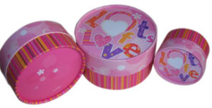 Custom Printed Round Shape Paper Box (YY--B103) pictures & photos