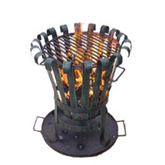 Steel Chiminea (FSL025) Outer Door Charcoal Heater, Fire Basket pictures & photos