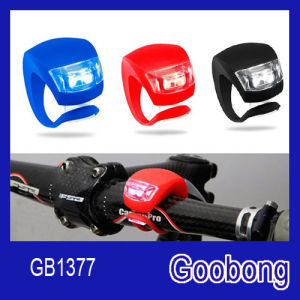 2LED Silicon Safety Bike Bicycle Front Rear Light