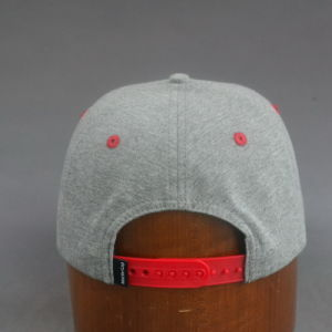 Cotton Jersey Classic Flat Brim Cap Snapback Hat with 3D Embroidery pictures & photos
