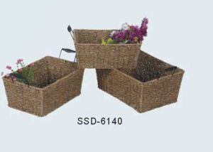 Home Storage Baskets Made From Seagrass in Natural Color (SSD-6140)