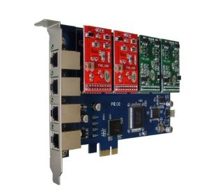 4 Ports PCI-E Asterisk Card Fully Compatible With TDM400E pictures & photos