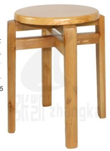 Roubd Stool Oak Wood Stool Strong Stool