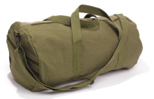 Sturdy Round Plain Military Canvas Duffel Bag pictures & photos