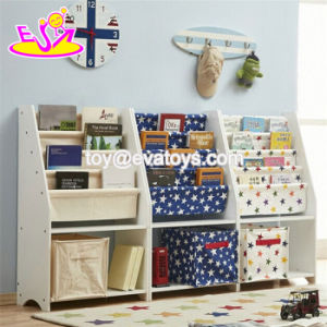 New Style Modern Kids Wooden Bookshelf with Bins W08c247 pictures & photos