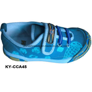 China New Colorful Children Casual Shoes Supplier Canvas Upper Injection Sole pictures & photos