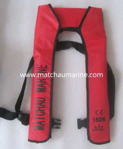 150n Ce Approval Single Air Chamber Inflatable Life Jacket pictures & photos