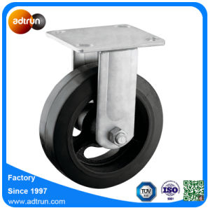 Heavy Duty Industrial Fixed 6 Inch Rubber Wheel Caster pictures & photos