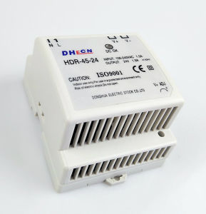 HDR-45, 45W DIN Rail Switching Power Supply 5VDC, 12VDC, 15VDC, 24VDC Can Be Offered pictures & photos