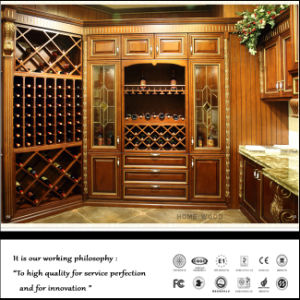 Noble High Quality Solid Wood Wine Cabinet pictures & photos
